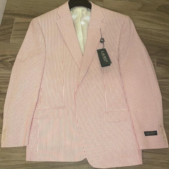 Men's pinstriped blazer